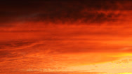 Stock Video Footage of 4K Heavenly Sunset Afterglow Cloudscape Timelapse -Tilt Down-