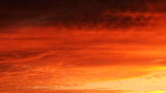Stock Video Footage of Heavenly Sunset Afterglow Cloudscape Timelapse -Tilt Down-