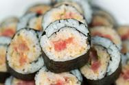 Stock Photo of spicy tuna roll