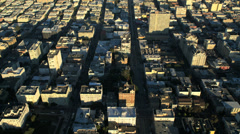 Aerial view Downtown San Francisco Oakland Bay bridge, USA Stock Footage