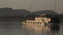 Dahabiya on the Nile river, Egypt Stock Footage