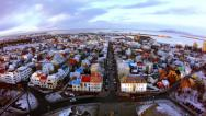 Stock Video Footage of Reykjavik Town Center From Church Tower