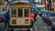 Stock Video Footage of Cable Car in San Francisco