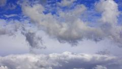 4K Timelapse Clouds 32 Blue Sky - stock footage