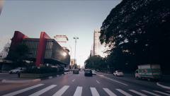 Paulista Avenue Traffic HD Stock Footage