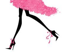 Stock Illustration of sexy legs running in high heels
