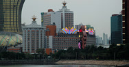 Stock Video Footage of 4K video of the Grand Lisboa casino and resort hotel in Macau