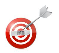 Target fraud illustration design Stock Illustration