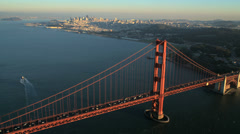 Aerial view Golden Gate Bridge, San Francisco, USA Stock Footage