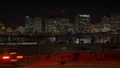 Time lapse of Oakland city skyline with traffic - stock footage