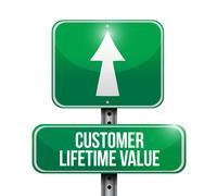 Stock Illustration of customer lifetime value sign illustration design