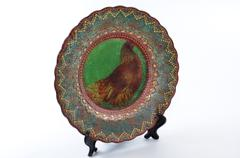 Dish of handwork on support Stock Photos