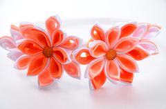Hoop for the girls of decoration of Kanzashi, photo for online shops - stock photo