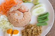 Stock Photo of thai food , fried rice with shrimp