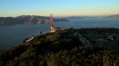 Aerial view Golden Gate Bridge, San Francisco, USA Stock Footage
