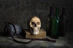 Still life with a skull Stock Photos