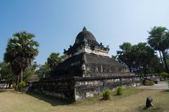 wat wisunalat at lungprabang province, laos - stock photo