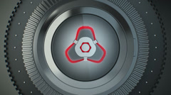 Futuristic Bank Vault Transition Stock Footage
