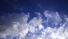 4K Timelapse Clouds 39 Blue Sky - stock footage
