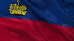 Flag of Liechtenstein - seamless loop Stock Footage