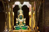 Stock Photo of emerald buddha statue at wat mai in luang prabang, laos