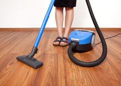 floor cleaning - stock photo