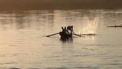Camera boat - fishing boat on the Nile River, Egypt Stock Footage