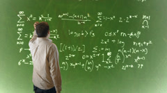 physics math confusion confused - stock footage