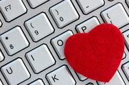Stock Photo of computer keyboard with heart