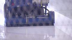Zamboni Machine - Ice Rink Cleaning - 03 Stock Footage