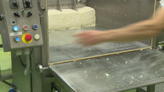 producing traditional Gouda or Eidam cheese - stock footage