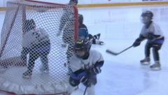 Ice Hockey - Kids Training - 03 - stock footage
