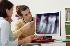 Tooth  decay, x-ray Stock Photos