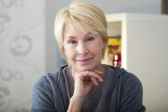 Stock Photo of portrait of -65 yr-old woman