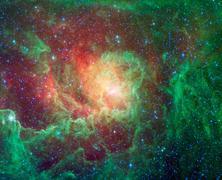 Kosminen pilvi nimeltään Lagoon Nebula Kuvituskuvat