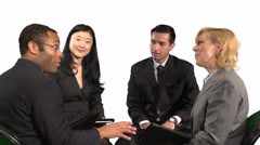 Diverse Group of Employees Collaborating at a Meeting - stock footage