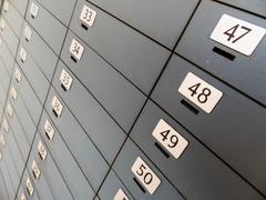 deposit in a bank - stock photo