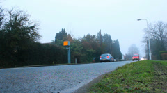 Driving in fog (dolly shot) Stock Footage