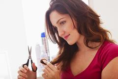 Woman's haircare Stock Photos