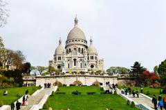 Paris. sacre coeur on montmartre Stock Photos