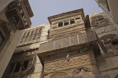 Mashrabiya, traditional Arabic architecture - stock photo