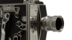 Bolex 16mm Film Camera - Close Up Dolly Stock Footage