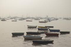 boats near Gateway of India, Mumbai - stock photo