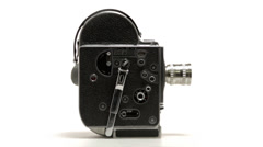 Bolex 16mm Film Camera - Full Shot Stock Footage