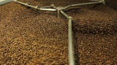 Coffee Roasting factory coffee beens Stock Footage
