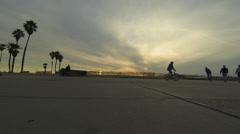 Flatland sunset oceanside Stock Footage