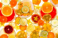 Stock Photo of healthy tropical fruit and citrus background