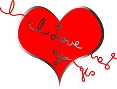 I love you heart strings Stock Illustration
