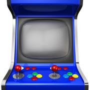 Stock Illustration of arcade machine closeup