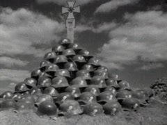 Mass grave of SS soldiers Stock Footage